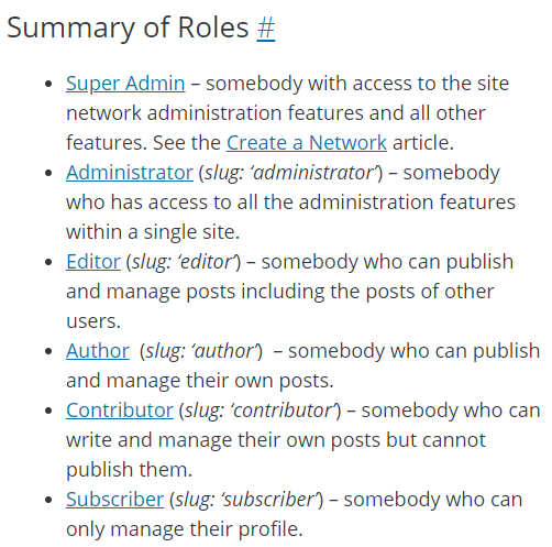 WordPress-summary-of-roles