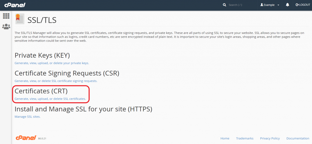 SSL-TLS-manage-ssl-feature-page-cpanel-auhost4u-tutorial