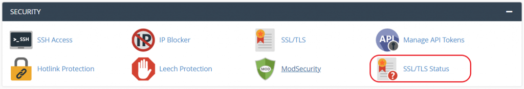 cpanel-section-security-feature-ssl-tls-auhost4u-support-question